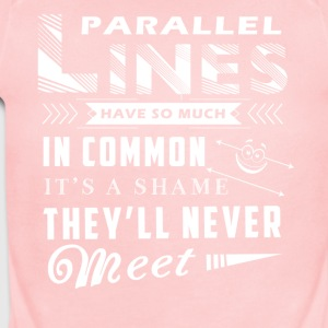 Parallel Lines Math Shirt - Short Sleeve Baby Bodysuit