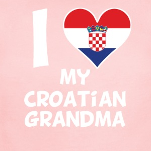 I Heart My Croatian Grandma - Short Sleeve Baby Bodysuit