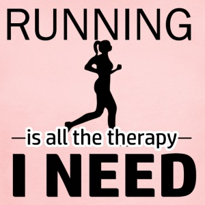 Running is my therapy - Short Sleeve Baby Bodysuit
