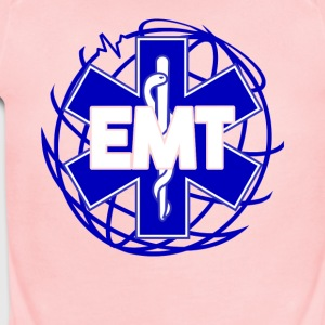 Distressed Emergency Medical Technician Or EMT Tee - Short Sleeve Baby Bodysuit