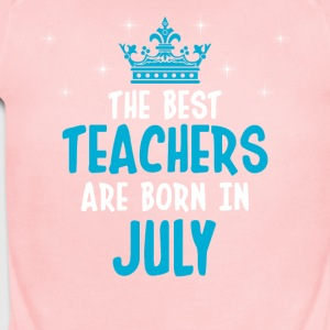 The best teachers are born in July - Short Sleeve Baby Bodysuit