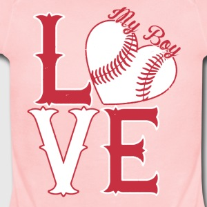 I Love My Softball Boy Shirt - Short Sleeve Baby Bodysuit