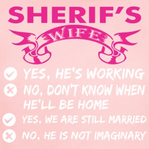 Sherifs Wife Yes Hes Working - Short Sleeve Baby Bodysuit