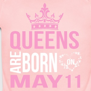 Queens are born on May 11 - Short Sleeve Baby Bodysuit