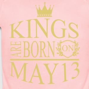 Kings are born on May 13 - Short Sleeve Baby Bodysuit