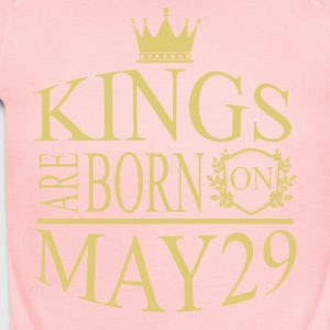 Kings are born on May 29 - Short Sleeve Baby Bodysuit