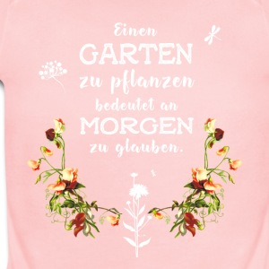 garden Garten german Slogan Love plant flower gree - Short Sleeve Baby Bodysuit