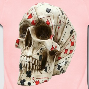 Skull poker - Short Sleeve Baby Bodysuit