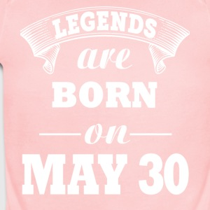 Legends are born on May 30 - Short Sleeve Baby Bodysuit