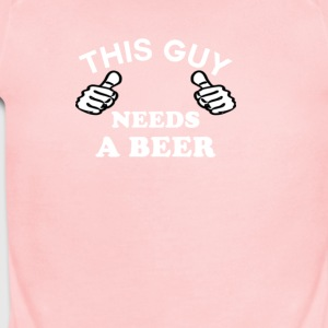 This Guy Needs A Beer Men's Funny T-shirt - Short Sleeve Baby Bodysuit