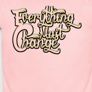 EVERYTHING MUST CHANGE 03 2 - Short Sleeve Baby Bodysuit