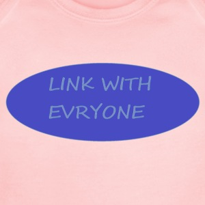 LINK WITH EVERYONE - Short Sleeve Baby Bodysuit