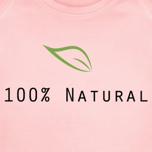 100 Natural - Short Sleeve Baby Bodysuit