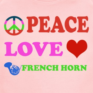 Peace love French Horns - Short Sleeve Baby Bodysuit