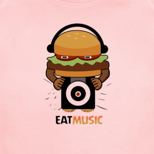 EAT MUSIC - Short Sleeve Baby Bodysuit
