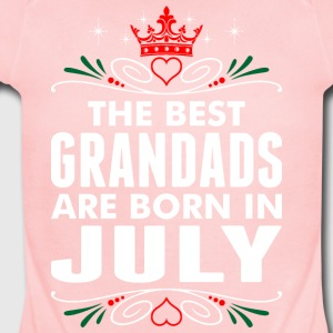 The Best Grandads Are Born In July - Short Sleeve Baby Bodysuit