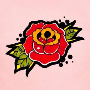 Vintage Rose Tattoo T-Shirt - Short Sleeve Baby Bodysuit