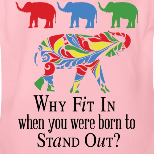 Why Fit In? - Organic Short Sleeve Baby Bodysuit