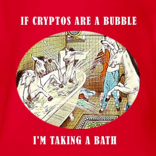 If Cryptos Are a Bubble, I'm Taking a Bath - Organic Short Sleeve Baby Bodysuit