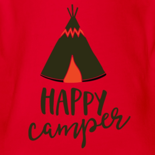 Happy Camper - Organic Short Sleeve Baby Bodysuit