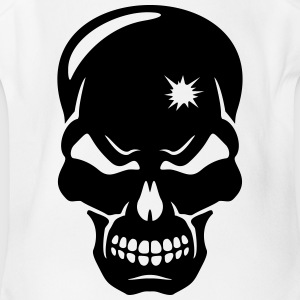 creepy skull - Short Sleeve Baby Bodysuit