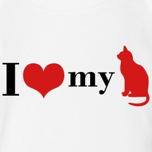 I love my Cat - Short Sleeve Baby Bodysuit