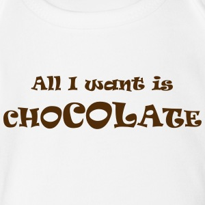 chocolate all - Short Sleeve Baby Bodysuit