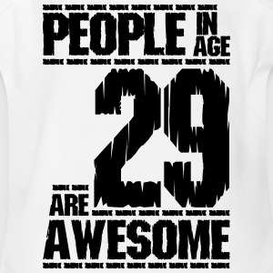 PEOPLE IN AGE 29 ARE AWESOME - Short Sleeve Baby Bodysuit
