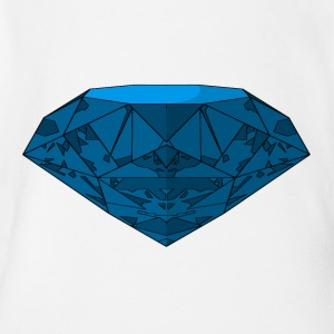 Blue Diamond - Short Sleeve Baby Bodysuit