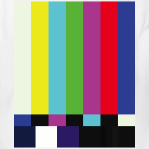 This is a TV Test | Retro Television Broadcast - Organic Short Sleeve Baby Bodysuit