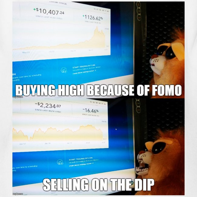 Crypto Lion Buying High and Selling Low