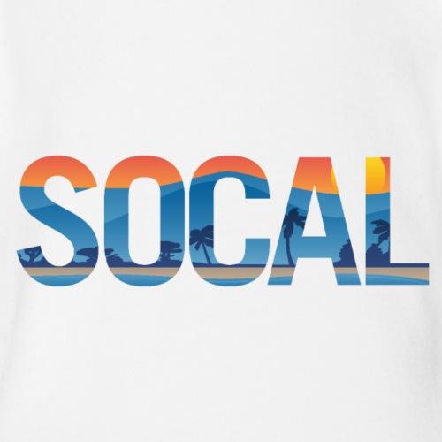 SOCAL Southern California Pride Illustration - Organic Short Sleeve Baby Bodysuit