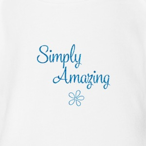 simply amazing - Short Sleeve Baby Bodysuit