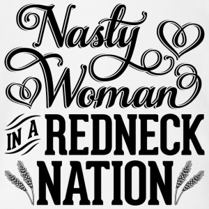 Nasty Woman in a Redneck Nation (Black Graphic) - Short Sleeve Baby Bodysuit