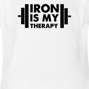 Iron is My Therapy - Short Sleeve Baby Bodysuit
