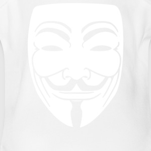 Anonymous Mask - Short Sleeve Baby Bodysuit