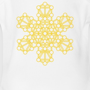 Sacred Geometry Kabbalah Tree of Life - Short Sleeve Baby Bodysuit