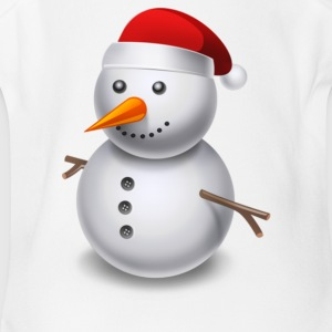 Cartoon Snowman - Short Sleeve Baby Bodysuit