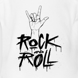 Rock and Roll Hand - Short Sleeve Baby Bodysuit
