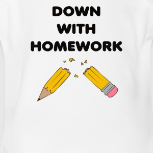 Broken homework - Short Sleeve Baby Bodysuit