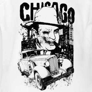 Chicago-gangster-Al Capone-cool-machine - Short Sleeve Baby Bodysuit