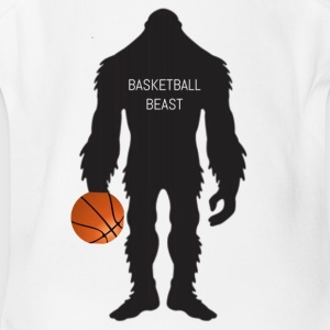 Basketball beast - Short Sleeve Baby Bodysuit