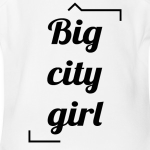 Big city girl - Short Sleeve Baby Bodysuit