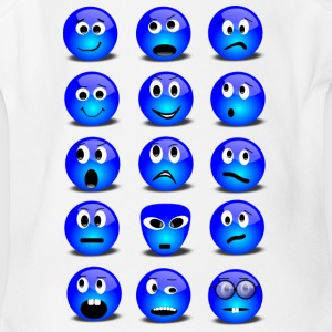 Emotional Emoticons - Short Sleeve Baby Bodysuit