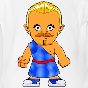 Little Gangster Comic Figure Crime Sparta - Short Sleeve Baby Bodysuit