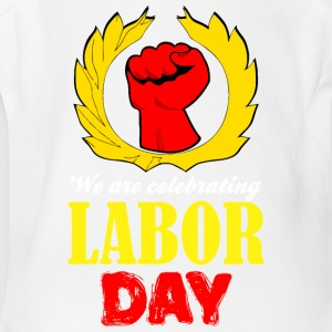 We Are Celebrating Labor Day Symbol - Short Sleeve Baby Bodysuit