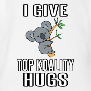 I Give Top Koality Hugs - Short Sleeve Baby Bodysuit