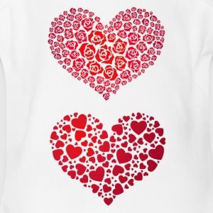 Valentine Hearts - Short Sleeve Baby Bodysuit