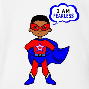 I Am Fearless - Short Sleeve Baby Bodysuit