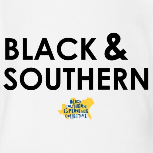 Black & Southern - Organic Short Sleeve Baby Bodysuit